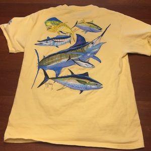Medium yellow Guy Harvey t shirt